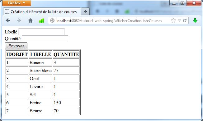 Favorit Tutoriel sur la réalisation d'application Web simple avec Spring SI58
